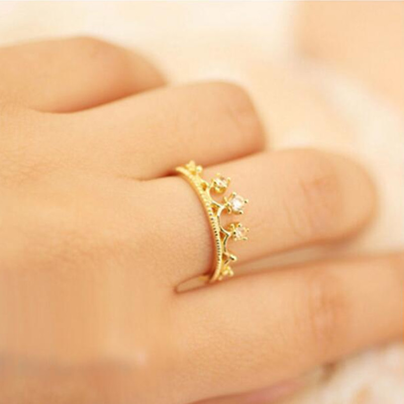 G221 Hot Selling New Fashion Crystal Crown Ring Wedding Vintage Jewelry Wedding Accessories For Women Anillos Anel Lady Girl(China (Mainland))