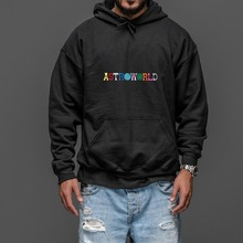 ASTROWORLD Hoodies Letter Scotts Embroidery Print Travis Us-Size The Swag HERE WISH YOU
