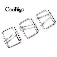 "100pcs Pack 1-1/2"" (41mm) Double Pins Belt Roller Buckle Silver Metal Hardware Webbing Strap Harness Leathercraft Belt Bag Parts(China)"
