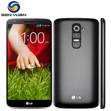 Original  LG G2 D800 D801 D802 unlocked moblie Phone Quad Core 5.2'' 2G RAM 16GB ROM Quad core 13MP WIFI GPS g2 cell phone