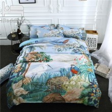 3Pcs/Set landscape Printed Duvet Cover Set 3D Bedding Sets Queen King Twin Size(China)