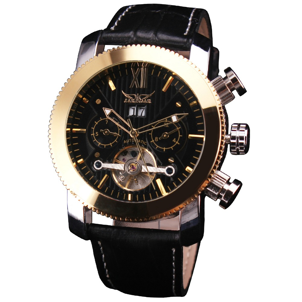 Top Brand Luxury WINNER Mens Tourbillon Automatic Mechanical Watches Genuine Leather Band Multi-function Calendar Mens Watches<br>