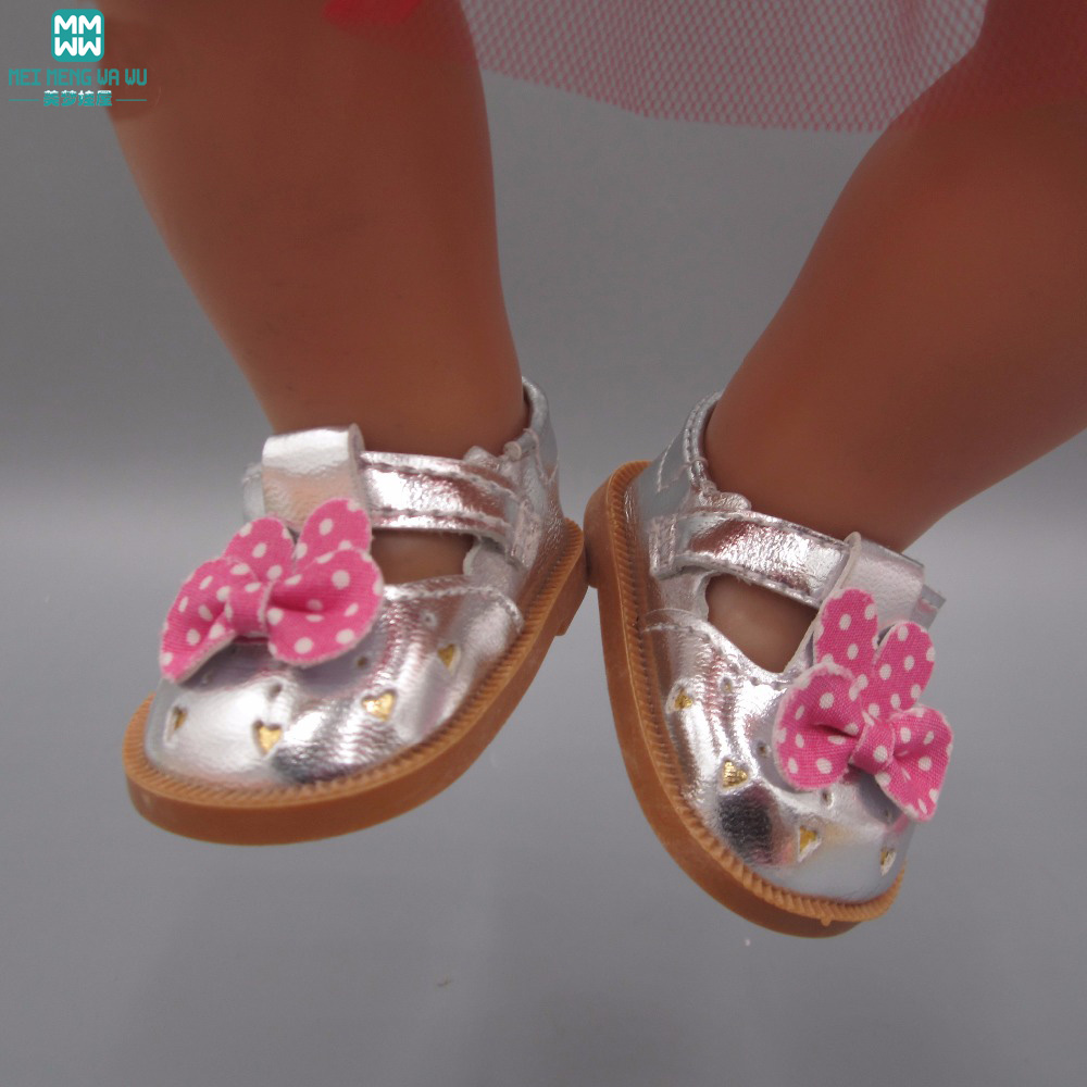 Baby Born Doll Shoes Pink Leather Shoes Fit 43cm Zapf Baby Born Doll Accessories