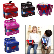7 Keys 2 Bass Small Accordion Kids Children Student Music Instrument Toy Gift-P101