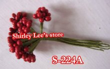 Do Customized Items !!60 Bunches=600 STEMS X Burgundy Pip Berry Cluster, Bomboniere Decoration S-224A (Free Shipping Express)(China)