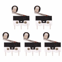 New 5pcs Mini Micro Switch Roller Lever Actuator Microswitch SPDT Sub Miniature Accessories