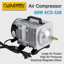 60W Air Compressor Electrical Magnetic Air Pump for CO2 Laser Engraving Cutting Machine ACO-328
