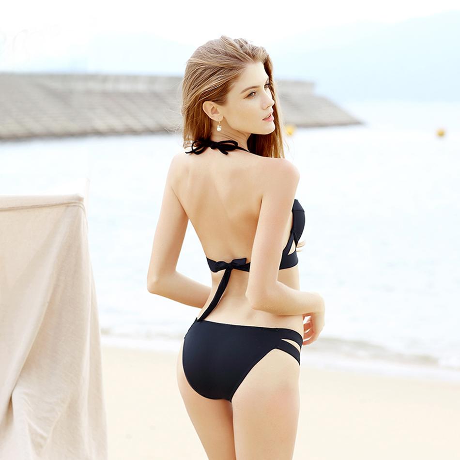 Hot Sale Strappy Bikini 17 Bandage Bikini Sets Push Up Bra Swimsuit Bathing Suit Brazilian Biquini Hollow Out Maillot De Bain 6