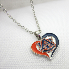 10pcs/lot Enamel Auburn Tigers Necklace Pendant Jewelry With 50cm Chains NCAA Logo Sports Necklace Jewelry Charms