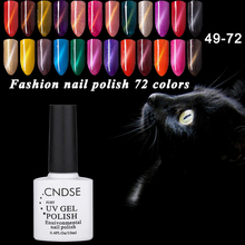 10ML 3D Magnet UV Gel Color Magnetic Cat Eyes Gel Nail Polish Soak Off LED Lacquer Gel Nail Varnish 72 Colors CNDSE