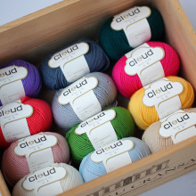 Free shipping 300g(50g*6pcs)Merino Wool Silk Blended Thick Hand Knitting Yarn In Imports