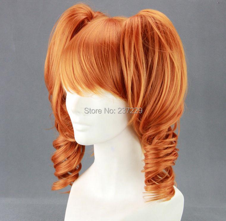 WholesaleXS3216***Long Sound Horizon Marchen Orange Anime Cosplay Wig + 2Clip On Ponytails<br><br>Aliexpress