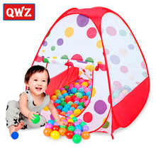 QWZ Baby Play Tent Child Kids Indoor Outdoor Tents House Large Portable Ocean Balls Great Gift games Playhouse Toys For Children