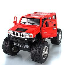 Free Shipping Humvees Kinsmart Soft World Truck 4wd Suv WARRIOR Model Car Learning Education Toy Forge World Baby Toy Children(China)