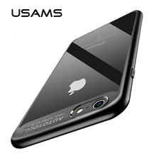 USAMS slim case for iPhone 6 case back case Transparent back Coque for iPhone 6s plus Protective back cover(China)