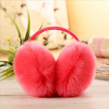 2017 New Fashion Women Winter Earmuffs Elegant Women Rabbit Fur Earmuffs Lovely Warm Earmuffs Cover Women's Ears Free shipping(China)