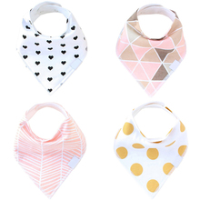 Bandana Baby Bibs For Girls Cute Pretty Princess 100% Pure Cotton Super-Stylish Anti-Smell Anti-Bacterial Apron Quick Dry Towel