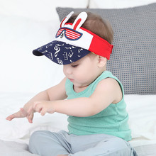 2017 New Baby Sun Hat Cotton Unisex Boy Girl Cartoon Rabbit Ears Caps Baby Boys Baseball Cap Newborn Summer Accessories()