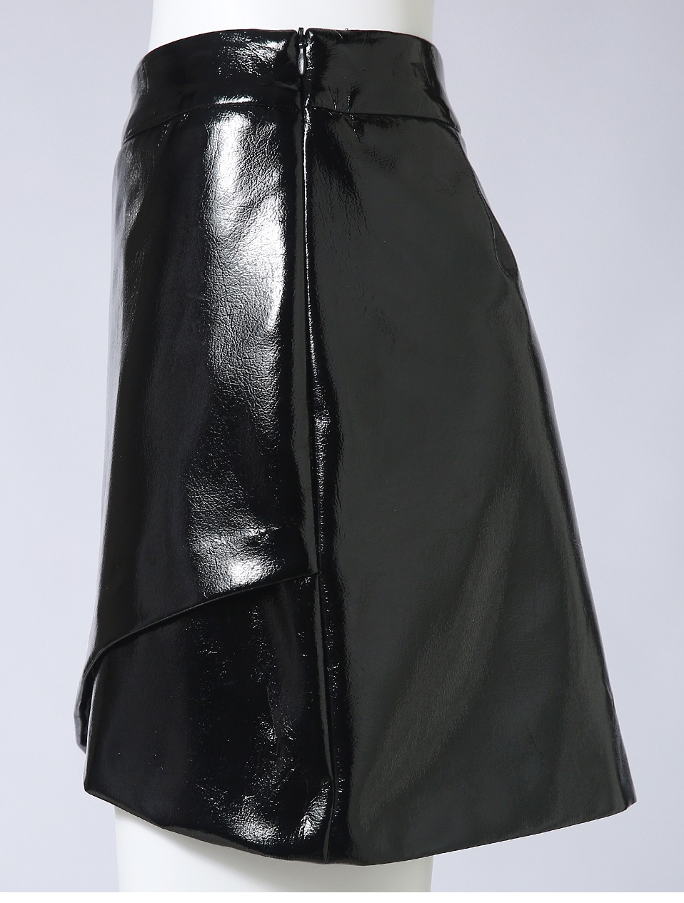 Autumn Winter Women Sexy Mini Skirt Black faux Patent Leather Female Short Pencil Skirt Zipper Fashion Streetwear Skirts Talever 11