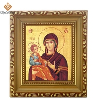 Factory outlets cheap wood photo frame lcon of the  virgin  and jrsus nany orthodox religion byzantine art style religious Itmes