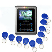 USB ID Touch Screen Keyboard Access Control System Time Attendance TCP RFID Code Security Electronic Proximity Entry Door Lock