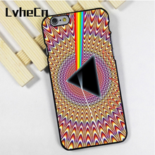 LvheCn phone case cover fit for iPhone 4 4s 5 5s 5c SE 6 6s 7 8 plus X ipod touch 4 5 6 Pink Floyd Trippy Illusion Dark Side