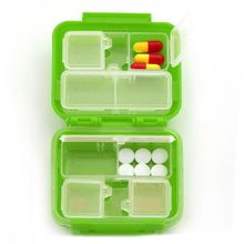 Hot Selling 1 Pcs Portable 8 Cells Pocket Pill Medicine Box Storage Case New High Quality Little Cute Pill Case Medicine Box