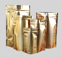 9*13cm small Stand up pouch Aluminium Foil Zip Lock Bag, Metallic Plastic Packaging Pouch for Food Tea coffee(China)