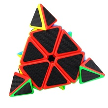 Pyraminx Pyramid Speed Cube Triangle Carbon Fiber Sticker Twisty Puzzle For Kids Intelligence Development Stress Cube Cubing(China)