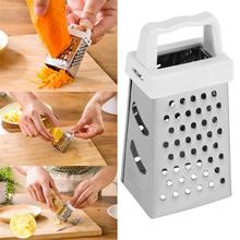 Top Selling Brand New Mini 4 Sides Design Stainless Handheld Grater Slicer Kitchen Tool Practical Portable Kitchen Graters