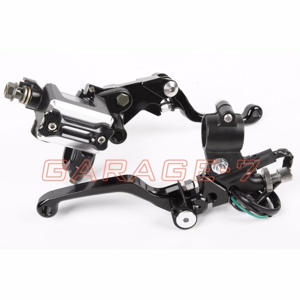 New CNC 7/8 Brake Master Cylinder Pressure Switch Reservoir Levers Black For Yamaha YZ125/250 2008-2014  2012 2011 2010 2013<br><br>Aliexpress