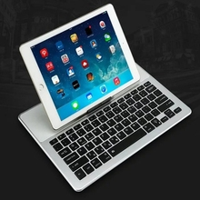 New arrive 3 system support Multimedia Aluminum Ultra Slim Wireless Bluetooth Keyboard with Touchpad For Win & Android & IOS