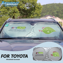BROSHOO Car Front Windshield Sunshade For Toyota Auris Avensis Corolla Verso RAV4 Highlander Prius Vios Camry Cruiser Celica MR2