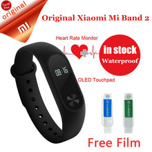 Original Xiaomi Fitness Bracelet Mi Band 2 watch Wristband Xiaomi Miband 2 OLED Sleep Monitor With Heart Rate Smart Wristbands