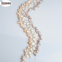 Natural AA reborn keshi Pearl 7-8mm For Jewelry Making 15inches DIY necklace bracelet earring FreeShipping Wholesale