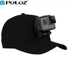 PULUZ Canvas Baseball Hat Cap Adjustable Strapback Cap With J-Hook Buckle Mount Screw PU195 For GoPro HERO Cameras