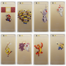 New arrivals 10 stylel pattern case For iphone 6 Snow White simpson Hand grasp the logo hard case cover for iphone 6 4.7'' Funda