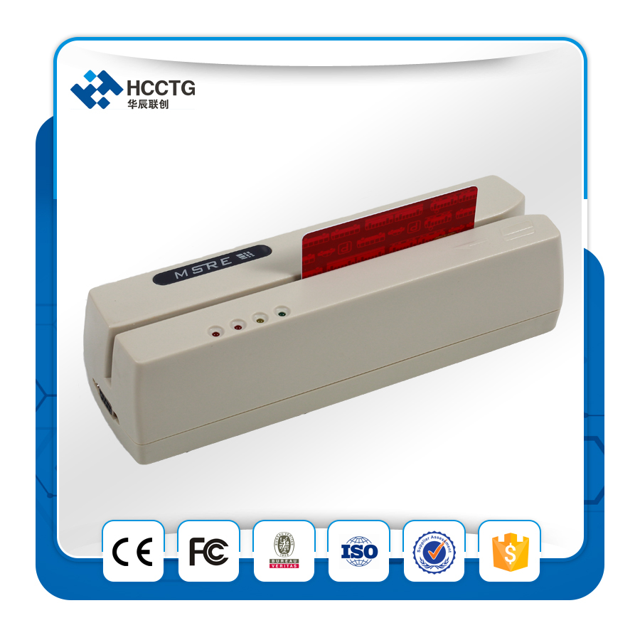 HCC206 Usb Emv Magnetic Card Reader Writer Free Driver No Need Software Smart Cheap Card Writing Terminal