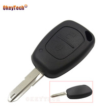 OkeyTech 10 pieces 2 Button Remote Car Key Case Blank Key Replacement Shell For Renault Vivaro Movano Traffic Kangoo Master Key(China)