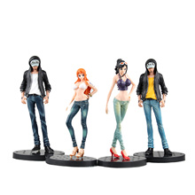 Chanycore Anime ONE PIECE JEANS FREAK Law Nami Robin Zoro 7Style 1pcs/set Action Figures PVC onepiece toys doll model collection
