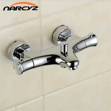 High Quality Brass Chrome Wall Mounted Shower or Bathtub Thermostatic Faucet AL-819P