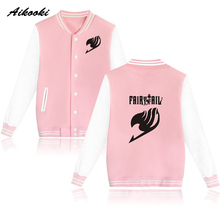 Cartoon Fairy Tail Baseball Jacket Capless Women Hoodies And Sweatshirts Fashion Girls Winter Classic Anime Jacket Coat Clothes(China)