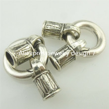 Free shipping 18110 2PCS Snap Hook 16mm Smooth Lock Clasp End Cap Hole 4.8mm Connector Fit Bracelet