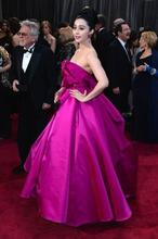 Wholesale The 85th Annual Academy Awards Pink Fan Bingbing Ball Gown Ruffles Satin Oscar Celebrity Dresses Red Carpet