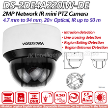 Hikvision PTZ DS-2DE4A220IW-DE 2MP network IR mini Camera 20X optical Zoom EZVIZ IP66 Waterproof PoE 50m IR P2P CCTV Webcam(China)