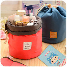 Brand Make Up Bag Women Brush Necessaries Cosmetic Bag barrel shaped Travel Toiletry Storage Box Makeup Bag Wash Organizer Cases