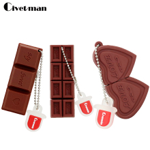 Flash USB Drive Cartoon Love Sweet Chocolate Flash Drive 4GB 8GB 16GB 32GB 64GB USB 2.0 Flash Memory Stick Flash Drive Pendrive(China)