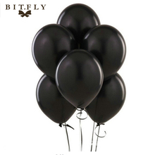 Hot Sale 50pieces 12 inch round black latex balloon Halloween birthday party balloon wedding decoration Toys orange and black