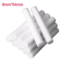 15 Pcs 8mm*64mm Air Humidifiers Filters Cotton Swab for Car Home Ultrasonic Humidifier Mist Maker Aroma Diffuser Replace Parts