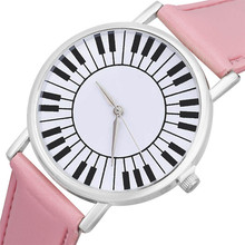 CLAUDIA Hot sale Delicate Fashion Wholsale Design woman Fresh Piano Keyboard Pattern Students Watch Reloj Mujer Dropship